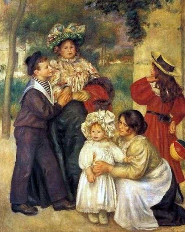 艺术家的家人   皮埃尔奥古斯特雷诺阿