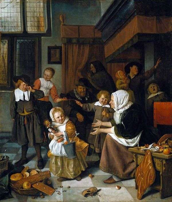 圣尼古拉斯的盛宴   Jan Steen