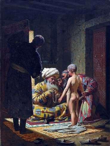 出售儿童奴隶   瓦西里Vereshchagin