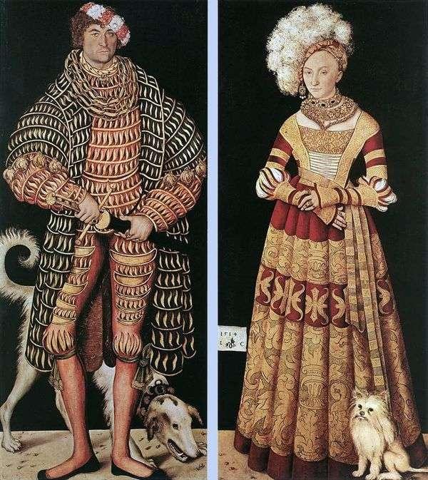 虔诚的杜克海因里希和他的妻子梅克伦堡的凯瑟琳   卢卡斯克拉纳赫的肖像