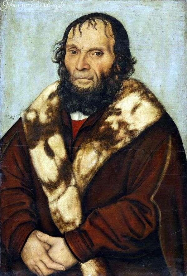 Johann Shiring博士的肖像   Lukas Cranach