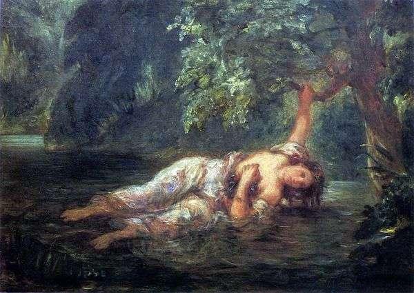 奥菲莉亚之死   尤金德拉克罗瓦
