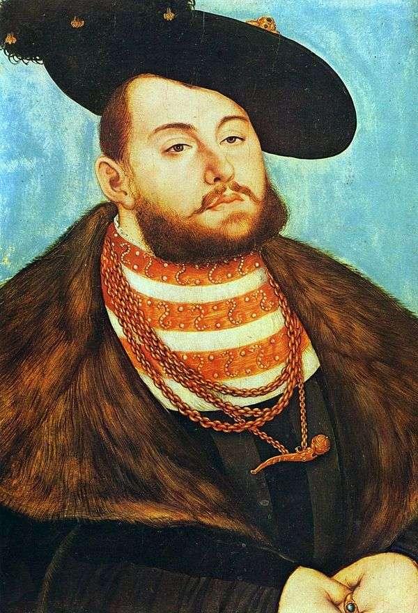 约翰弗里德里希的画像Magnanimous   Lukas Cranach