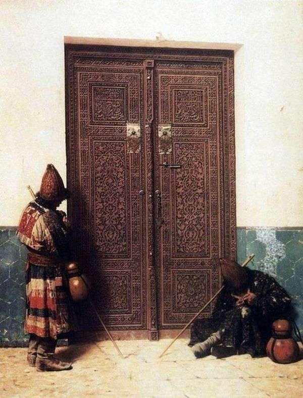 在清真寺的门口   瓦西里Vereshchagin