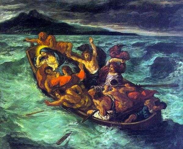 风暴中的基督之梦   尤金德拉克罗瓦