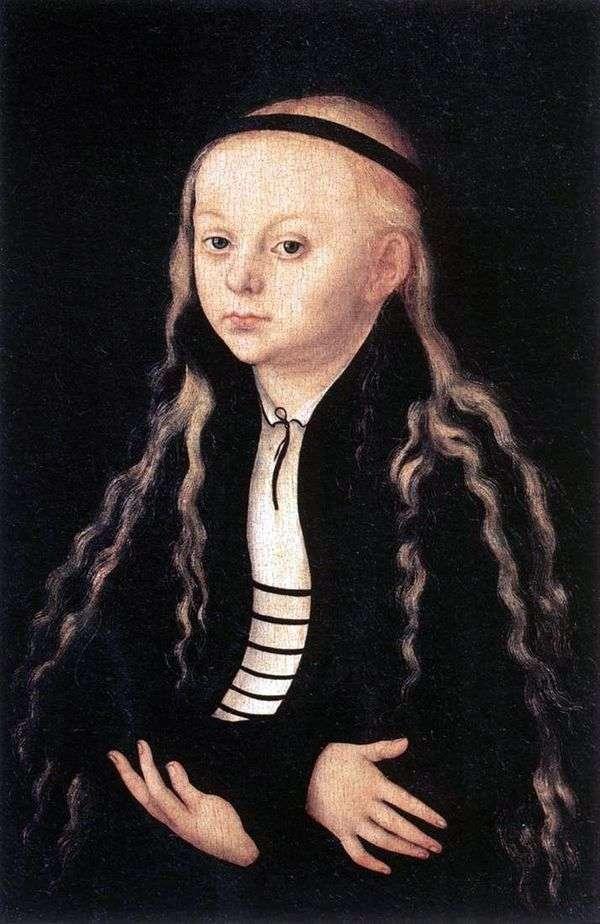 马格达莱纳路德画象   卢卡斯Cranach