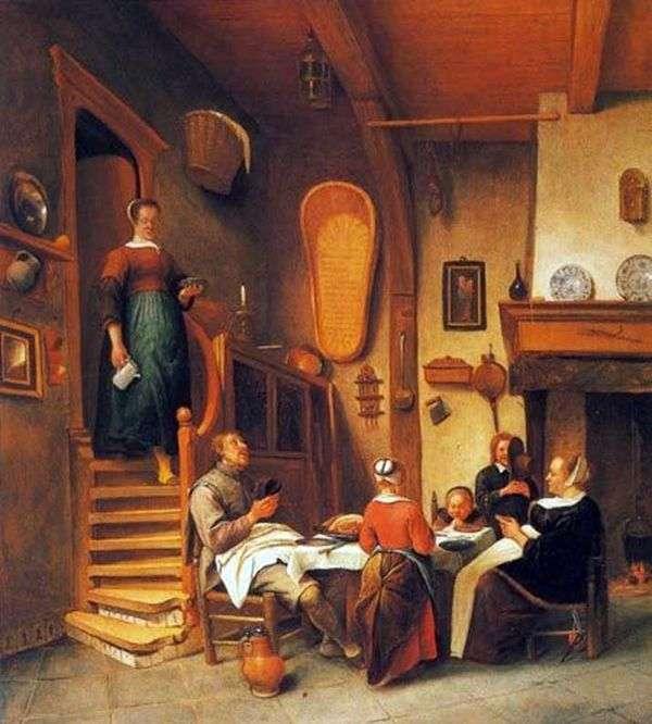 家庭祷告   Jan Steen