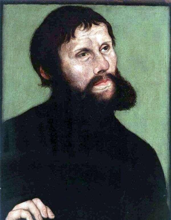 马丁路德的肖像以骑士约格   卢卡斯克拉纳赫的幌子