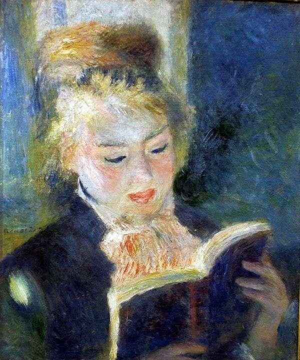 女孩读书   皮埃尔奥古斯特雷诺阿