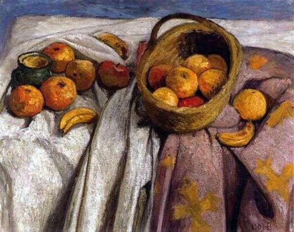 苹果和香蕉的静物   Paula Moderzon Becker