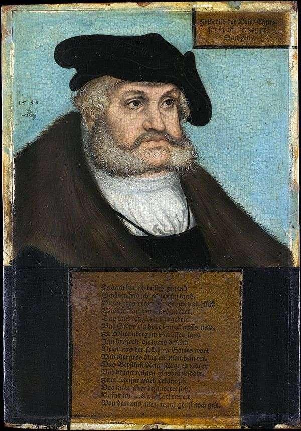 弗雷德里克明智的肖像   卢卡斯克拉纳赫