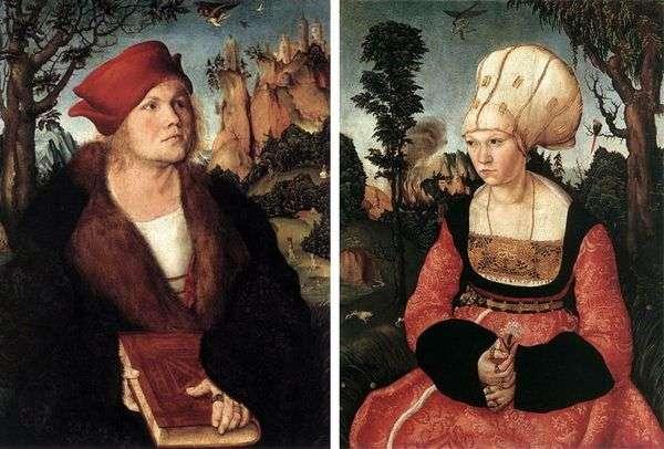 Johannes Kuspinian和他的妻子Lukas Cranach的肖像