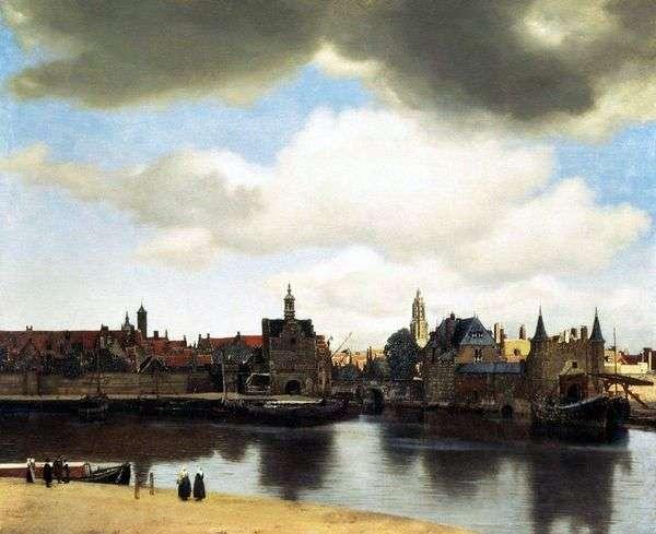 代尔夫特市的看法   Jan Vermeer
