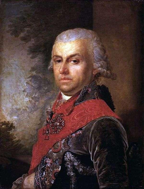 D. P. Troschinsky的画像   弗拉基米尔Borovikovsky