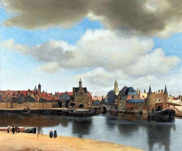 代尔夫特的视图   Jan Vermeer