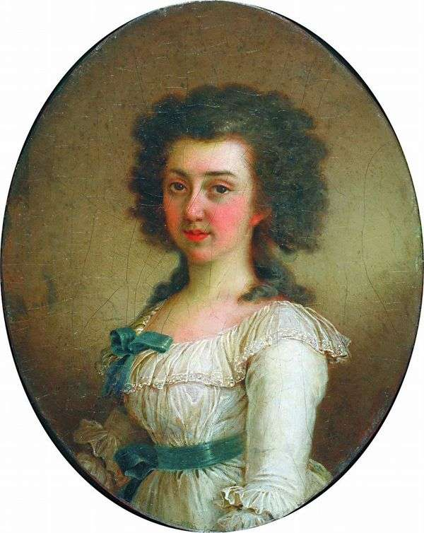 E. M. Olenina的肖像   弗拉基米尔Borovikovsky