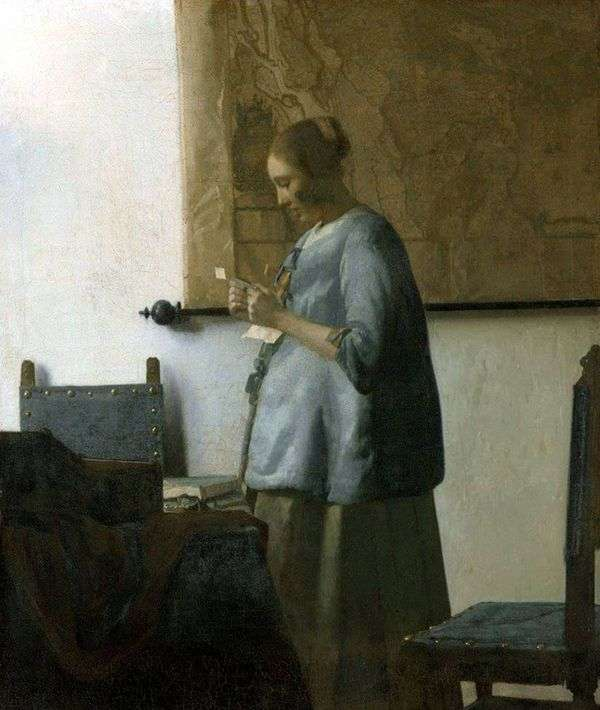 蓝色的一位夫人读信   Jan Vermeer