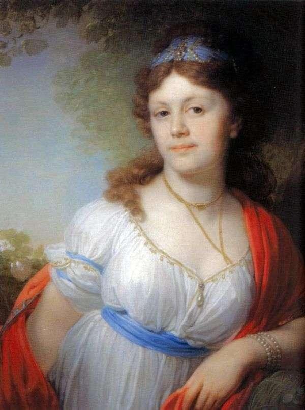 伊丽莎白G. Temkina   弗拉基米尔Borovikovsky的肖像