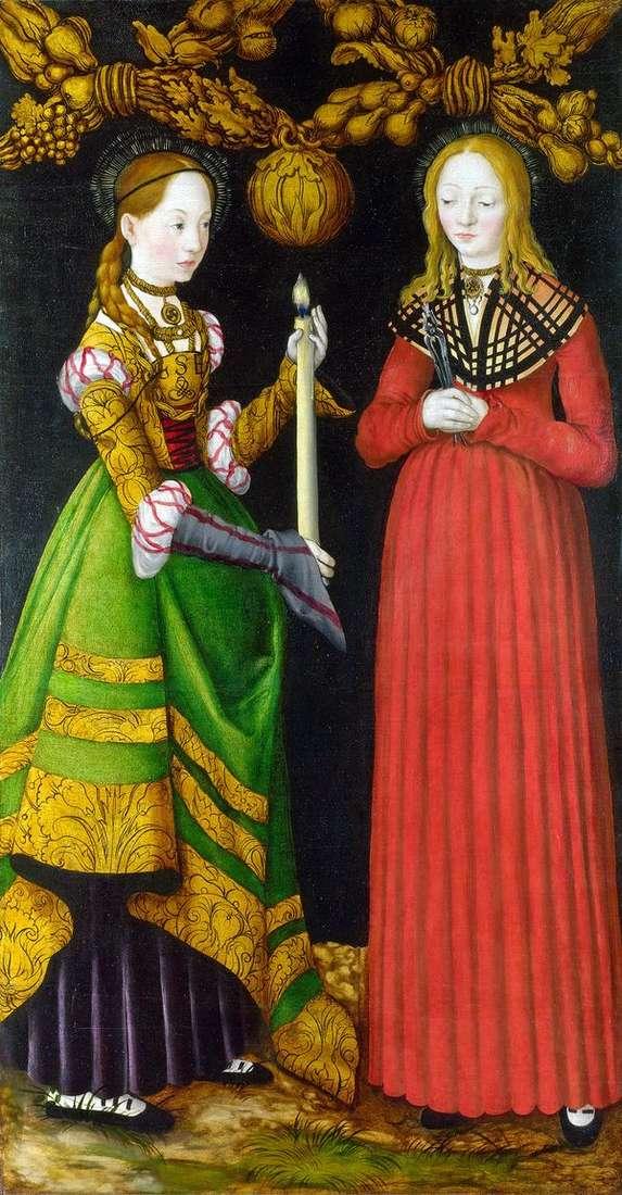 Saints Genevieve和Apollonia   Lukas Cranach