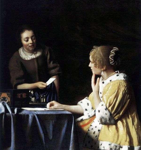 这位女士和她的女仆有一封信   Jan Vermeer