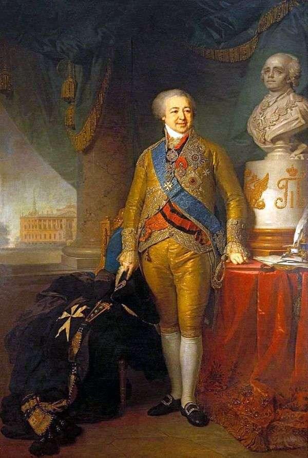 王子亚历山大 鲍里索维奇Kurakin   弗拉基米尔Borovikovsky画象