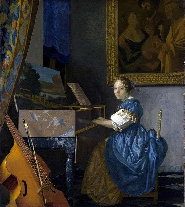 Spinet的女士   Jan Vermeer