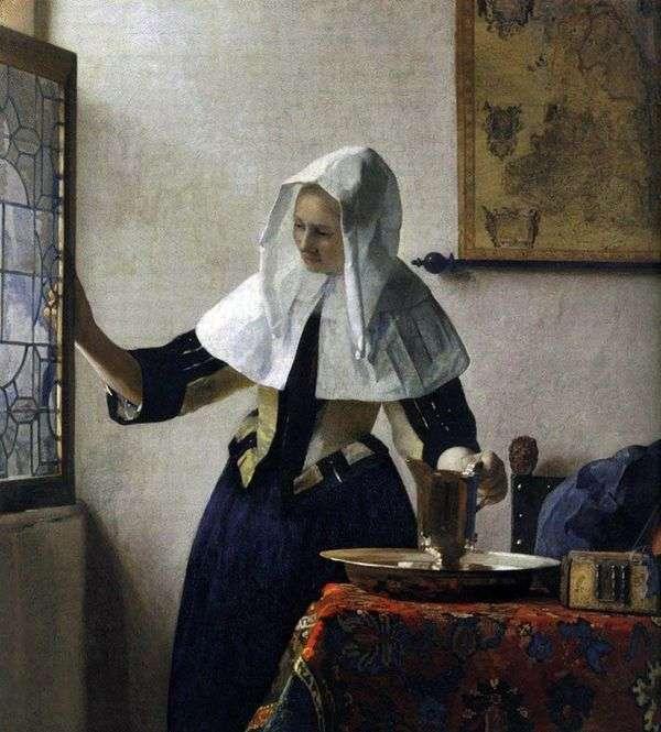 有一个水罐的女孩   Jan Vermeer