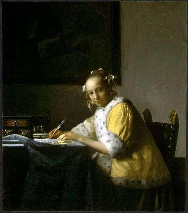 写信的女孩   Jan Vermeer