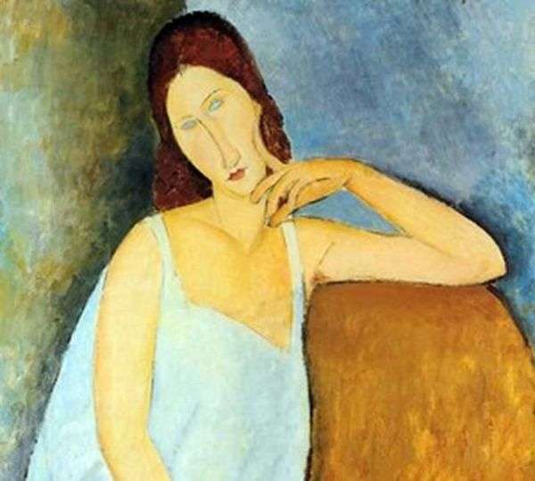 Jeanne Hebuterne的肖像   Amadeo Modigliani