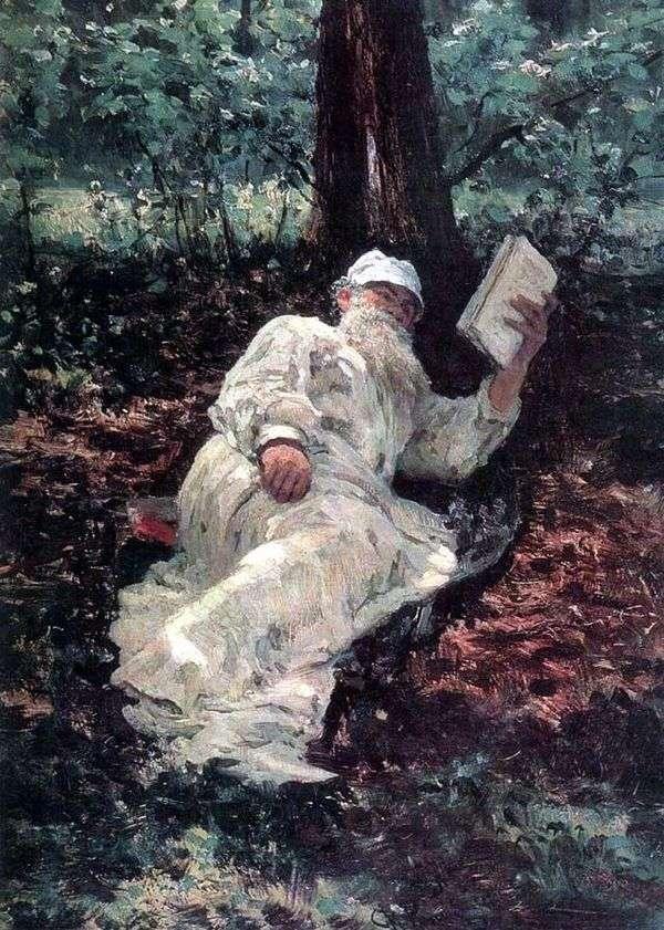 托尔斯泰在森林度假   伊利亚 列宾