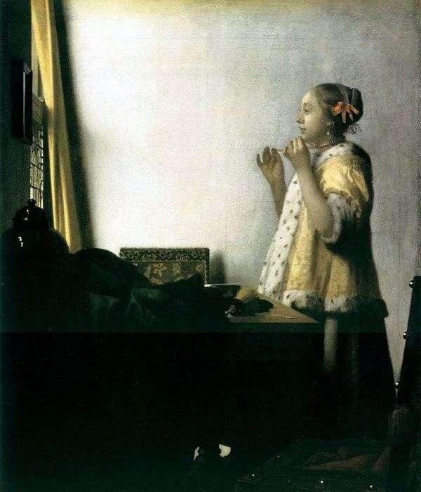 尝试在项链的女孩   Jan Vermeer