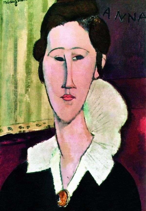 Khanka Zborovskoy的肖像   Amadeo Modigliani
