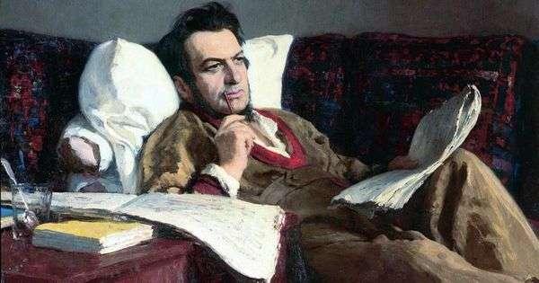 米哈伊尔 伊万诺维奇 格林卡在创作歌剧鲁斯兰和柳德米拉的时期   伊利亚 列宾