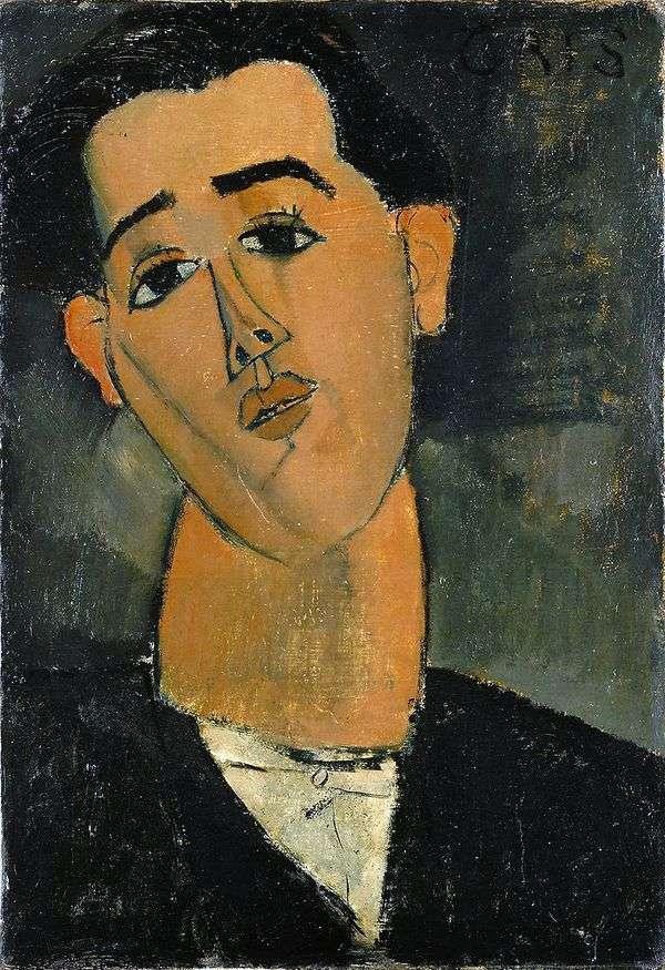 Juan Gris的肖像   Amedeo Modigliani