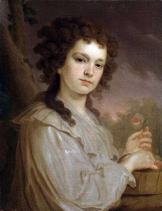 K. K. Filippova   弗拉基米尔Borovikovsky的肖像