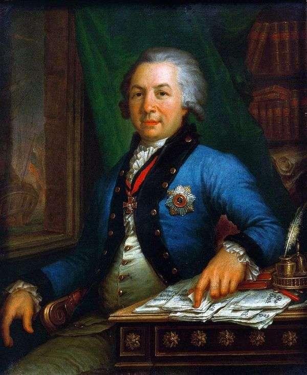 诗人G. R. Derzhavin 1795的肖像   弗拉基米尔 博罗维科夫斯基