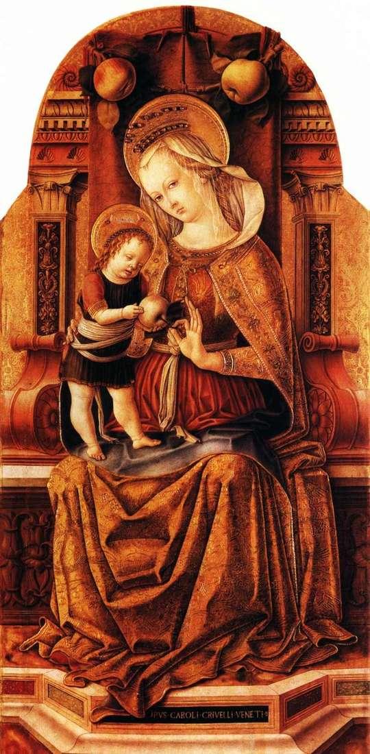 玛丽亚与宝座上的宝座   卡洛克里维利