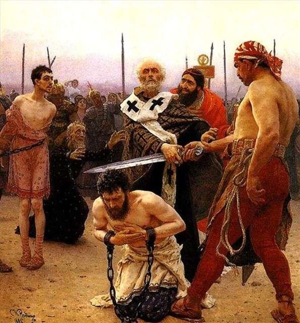 尼古拉 米利基斯基(Nikolai Mirlikiysky)拯救了三名无辜被判死刑的人   伊利亚 列宾(Ilya Repin)