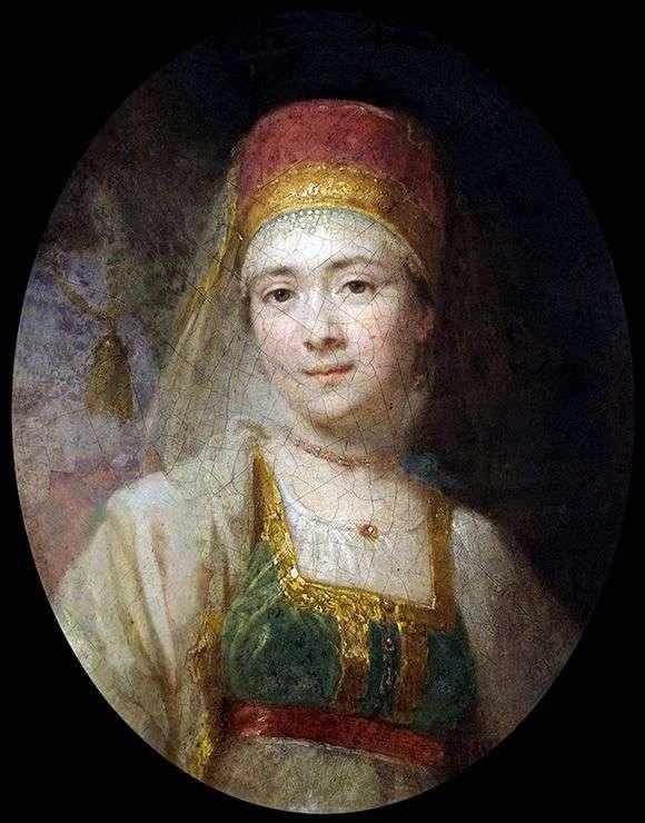 Torzhkovsk农民妇女Khristiny的画象   弗拉基米尔Borovikovsky