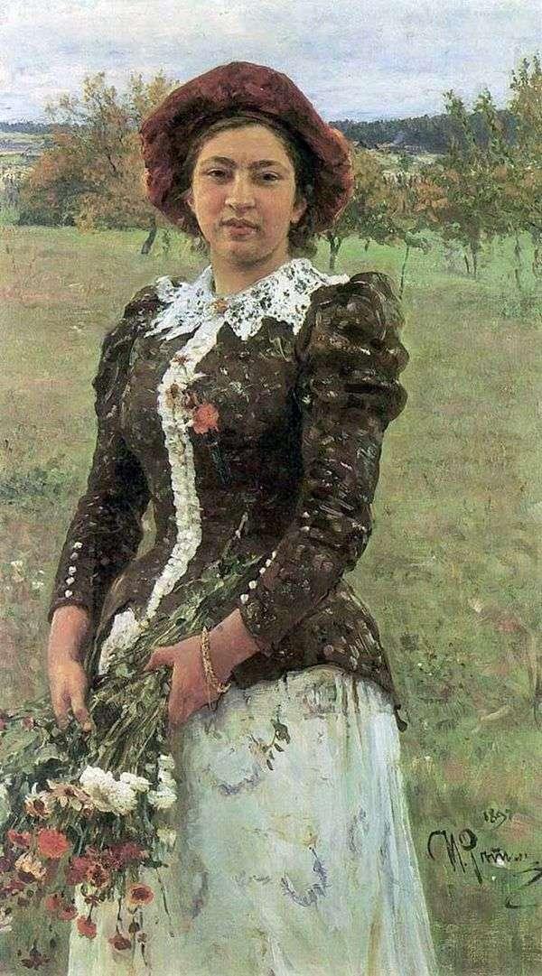 秋季花束(女儿维拉)   伊利亚 列宾