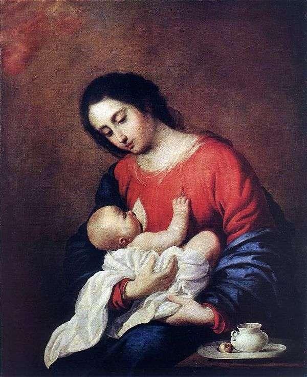 麦当娜和儿童   Francisco de Zurbaran