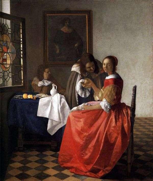 女士和两位先生们   Jan Vermeer