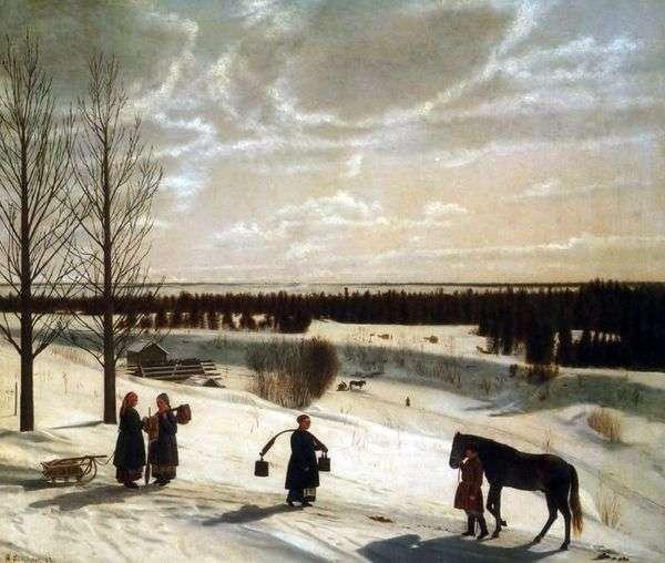 冬季景观   Nikifor Krylov
