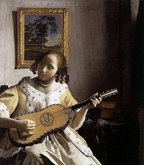 有吉他的少妇   Jan Vermeer