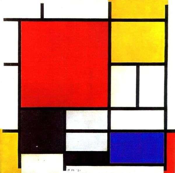 红色,黄色,蓝色和黑色   Peter Cornelis Mondrian