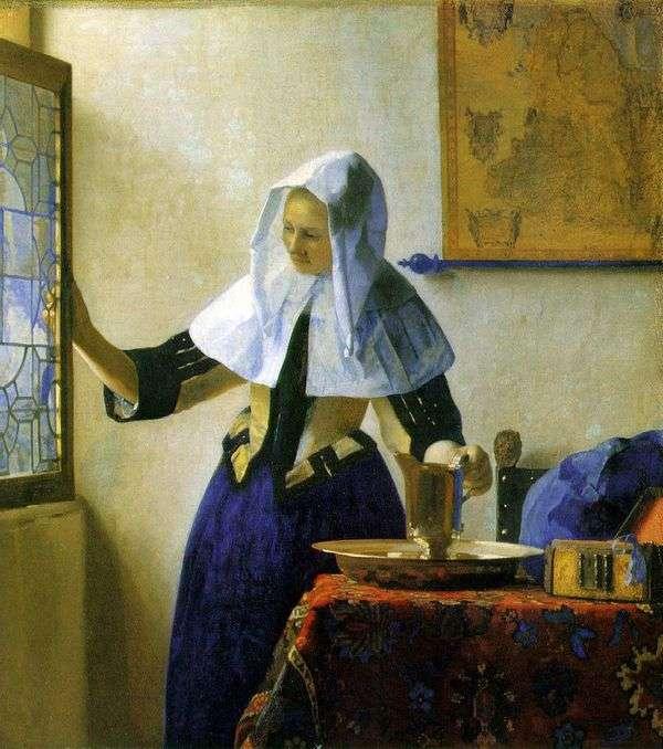 有一个水罐的少妇   Jan Vermeer