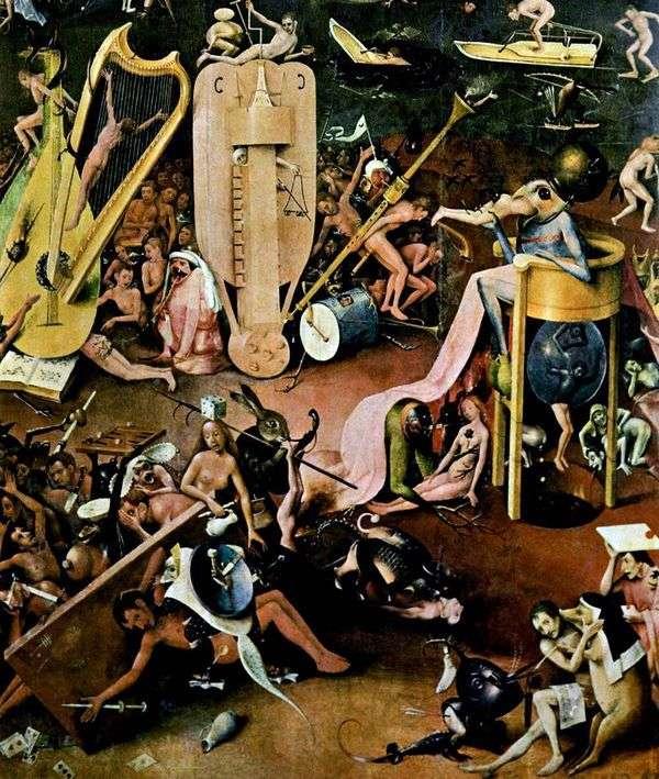 地狱。Tripty Delights的三联画细节花园   Hieronymus Bosch