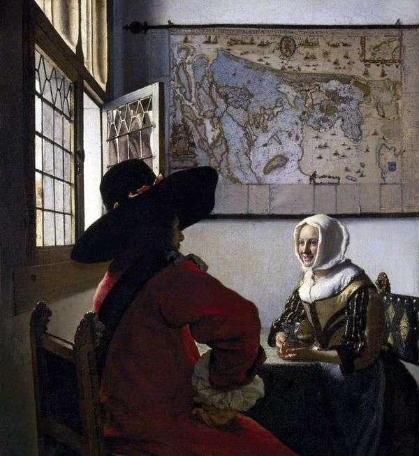 官员和笑女孩   Jan Vermeer