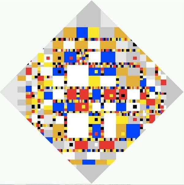 Boogie Woogie胜利   Peter Cornelis Mondrian