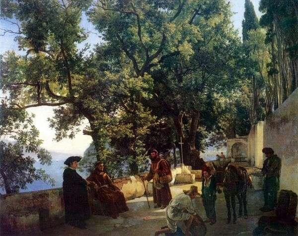 Capuccini在索伦托附近   西尔维斯特Shchedrin